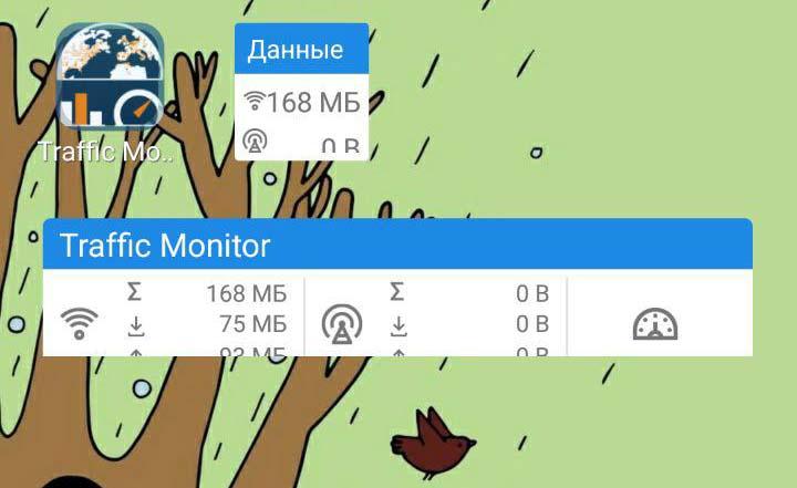 Виджет трафик менеджера для Android