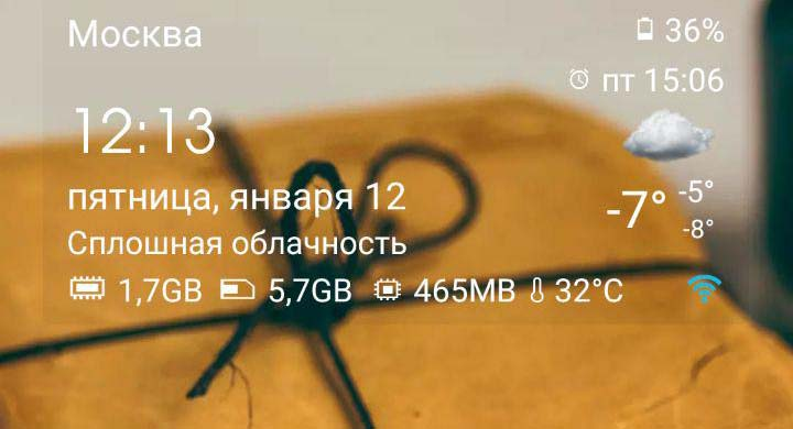 Лучший виджет погоды на Android