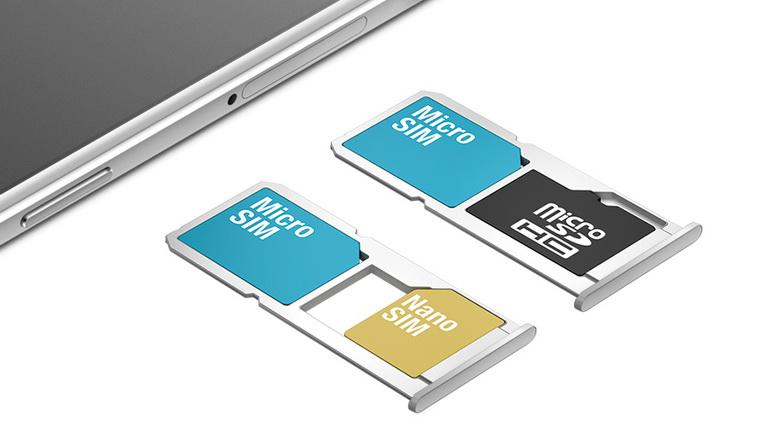 гибридный слот для карты памяти